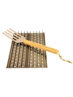 "GrillGrate Set - Two 19.25"" (48.9cm) Panels + Free GrillGrate Tool"