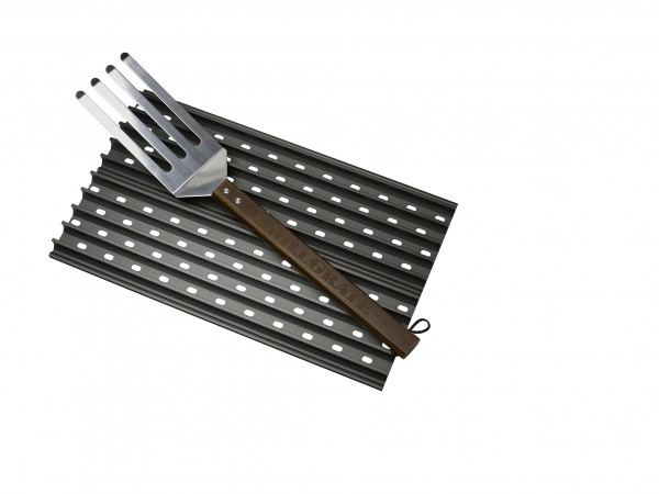 GrillGrate Set - Twee 42cm BBQ Roosters Inclusief GrateTool