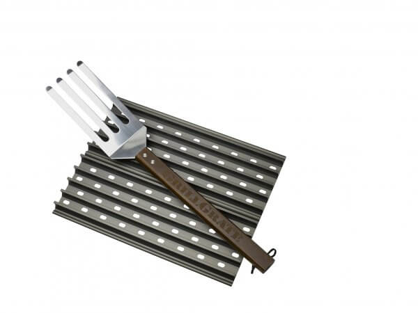 Grill Grate Kit - Twee 31cm Panelen Inclusief GrateTool